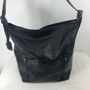 FRYE large black leather hobo bag